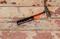Hummer sul vecchio pavimento di legno Fotografia Stock