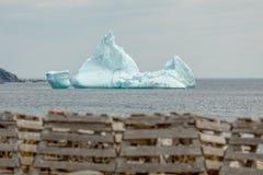 Hummer-Töpfe und Eisberg stockbilder