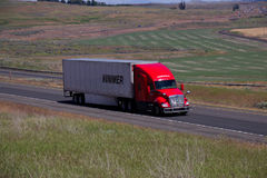 Hummer Trucking / Red Kenworth White Trailer. 