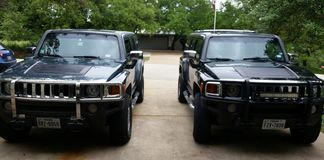 Hummer twins Royalty Free Stock Photo