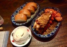 Hummer- und Bao-Teller an Restaurant Frau Pound lizenzfreie stockfotografie