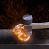 Hummer und heißer Stahl Lizenzfreies Stockfoto