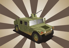Hummer war jeep. Vector illustration of military hummer Jeep Royalty Free Stock Photo
