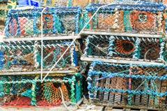 Hummerkrabbennetze lizenzfreie stockbilder