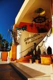 Hummerrestaurang i stadens centrum Cabo San Lucas arkivbilder