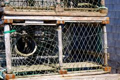 Hummertopf auf Les îles de la Madeleine Lizenzfreies Stockbild