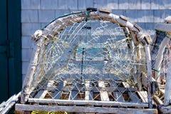 Hummertopf auf Les îles de la Madeleine Stockfotografie