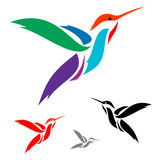 Humming bird. Isolated abstract humming bird in white background Stock Photography