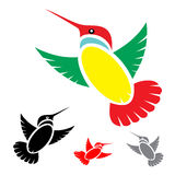 Humming bird. Isolated abstract humming bird in white background Royalty Free Stock Photography