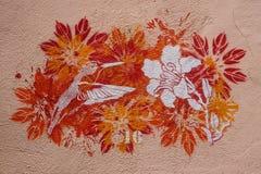 Humming-bird and flower vector illustration