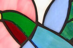 Humming Bird Stained Glass. Macro royalty free stock photo