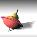 Humming Top 3D. Humming Top, 3D wooden an Colorful stock illustration