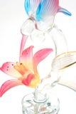 hummingbird стекла цветка стоковые изображения rf