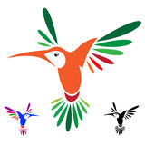 Hummingbird. Isolated abstract humming bird in white background Stock Images