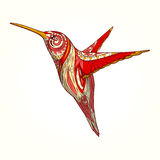 Hummingbird with abstract ornament vector Royalty Free Stock Photos