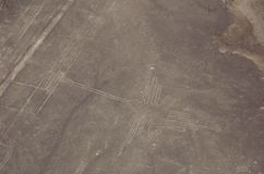 Hummingbird - Aerial view of the Nazca Lines Royalty Free Stock Image