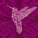 hummingbird Arte del tatuaje Bandera retra, invitación, tarjeta, reservación del pedazo camiseta, bolso, postal, cartel libre illustration