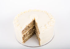 Hummingbird Cake with Slice Cut Out Royalty Free Stock Photo