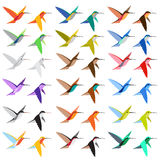Hummingbird 18 Colors Shade Royalty Free Stock Image