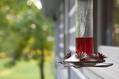 Hummingbird Feeder Stock Photography