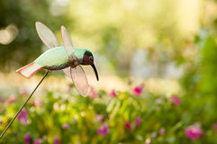 Hummingbird garden ornament Royalty Free Stock Photo