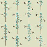 Hummingbirds in the flowers, seamless texture for printing on fa Stock Photos