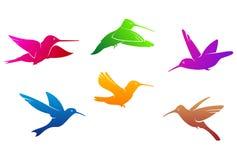 Hummingbirdssymboler vektor illustrationer