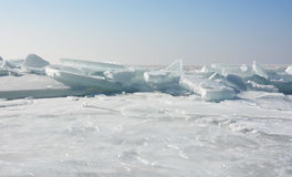 Hummock on the frozen sea shore Stock Image