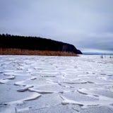 Hummocks del ghiaccio immagine stock