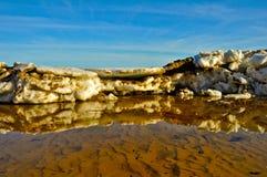 The hummocks thawing Stock Image