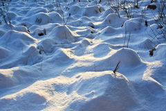 Hummocks under the snow Royalty Free Stock Photos