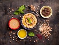 Hummus成份 免版税库存图片