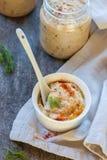 Hummus,鸡豆垂度 免版税库存图片