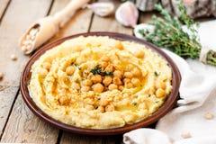 Hummus με chickpeas Στοκ Φωτογραφίες