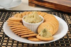 Hummus на шутихах Стоковое Фото