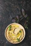 Hummus распространило с гайками Стоковые Фотографии RF