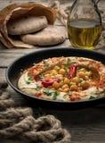 Hummus с пита стоковое фото