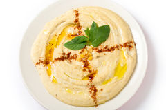Hummus from above Stock Image