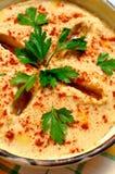 Hummus (alimento libanese) Immagini Stock Libere da Diritti