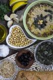 hummus Alimento orientale tradizionale organico Fotografie Stock
