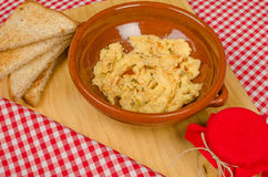 Hummus-Aperitif Stockfoto