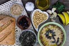 hummus Aperitivo sano Alimento casalingo organico Fotografia Stock