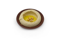 Hummus, an Arab/Mediterranean chickpea-tahina Royalty Free Stock Photo