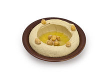 Hummus, an Arab/Mediterranean chickpea-tahina Royalty Free Stock Photos