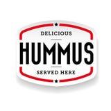 Hummus arabic cuisine sticker Royalty Free Stock Photo