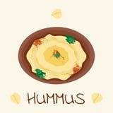 Hummus Arabisch voedsel van kikkererwt Royalty-vrije Stock Foto's