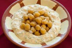 Hummus Beiruti. Mashed chickpeas and tahina, lebanese cuisine Royalty Free Stock Photography