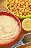 Hummus bowl snack Stock Photography