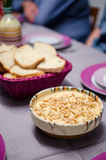 Hummus and bread Royalty Free Stock Photos