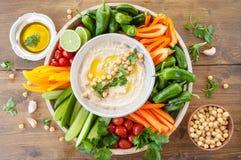 Hummus caseiro Foto de Stock
